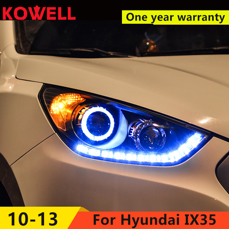 KOWELL Car Styling 2010 2011 2012 2015 Head Lamp for Hyundai IX35 Headlights New Tuscon LED