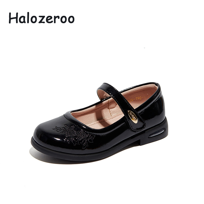 4ada3ee11 Весна Новые Детские обувь для девочек Дети цветок туфли без каблуков дети Брендовая  обувь лакированная кожа