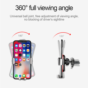 Image 4 - Baseus הכבידה אוניברסלי רכב טלפון מחזיק אוויר Vent עבור iPhone Redmi הערה 7 תמיכה Smartphone קליפ הר מחזיק מעמד