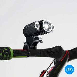 Image 5 - 360 girar 3 lâmpadas telescópica zoomable lâmpada de cabeça usb 18650 recarregável cabeça luz cree t6 led farol 4 modos bicicleta frontale