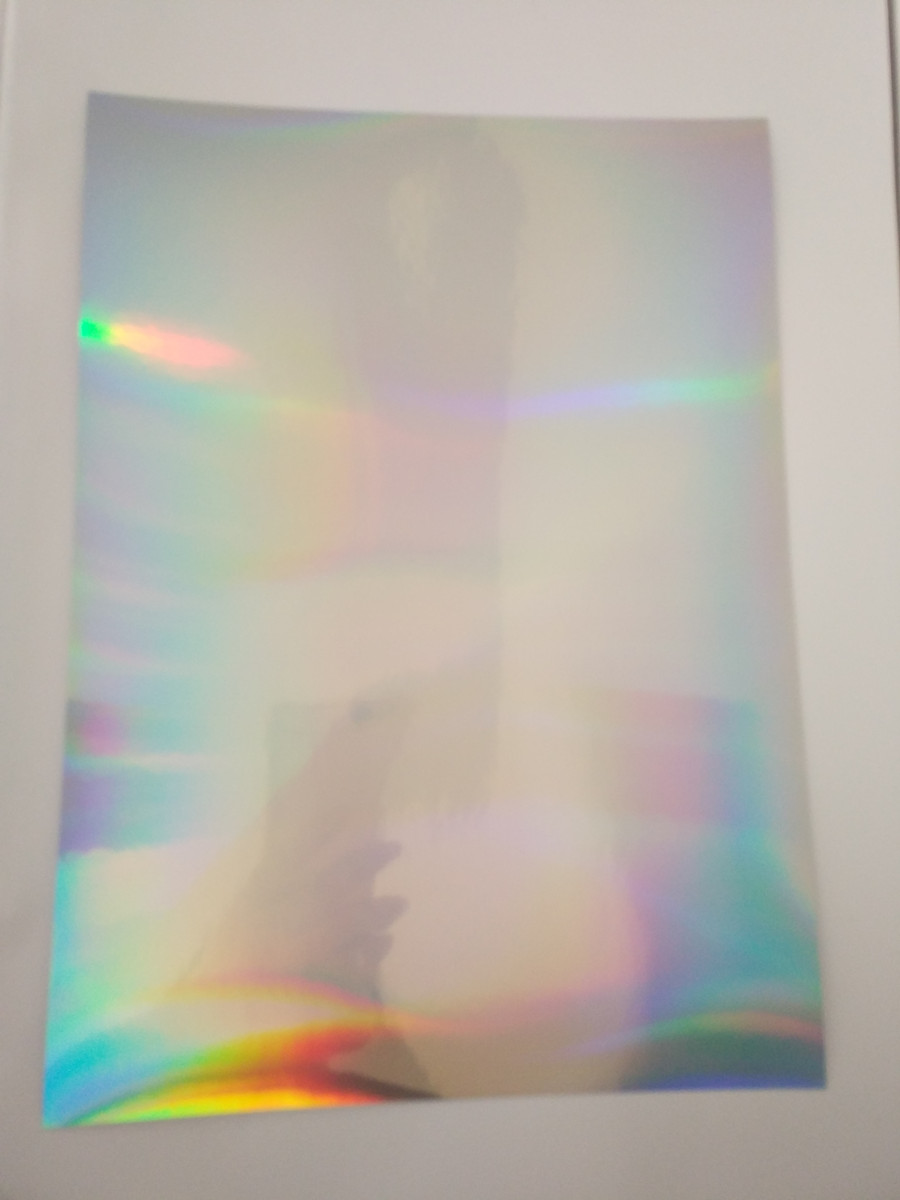 80 Sheets A4 (21cm x 29cm) self-adhesive Sticker plain rainbow mirror reflection holographic PP Film for print Label logo