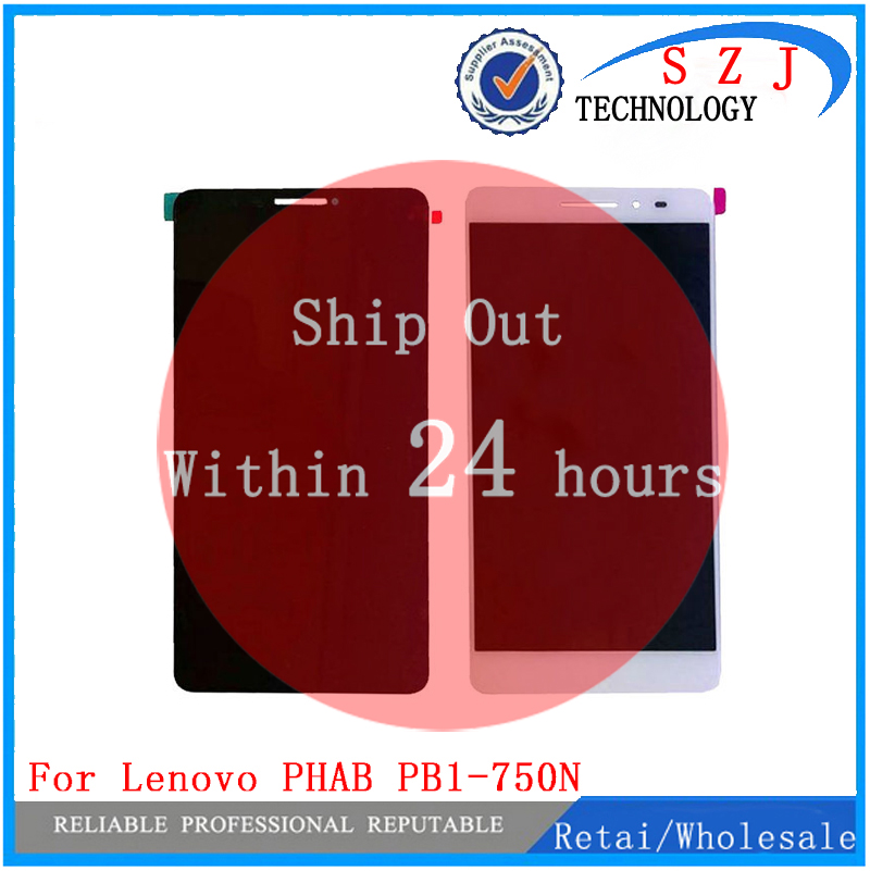 New For Lenovo PHAB 6.98 PB1-750 PB1-750N PB1-750M HGEHQY3H LCD Display Panel Touch Digitizer Glass Assembly Free Shipping pb1 770n cover soft tpu rubber back case for lenovo phab plus pb1 770n case pb1 770m back case 6 8 inch screen tablet
