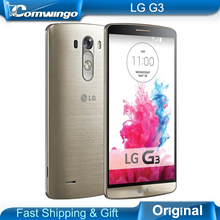 """Original lg g3 d855 d850 d851 f400 teléfono móvil 3 gb ram 32 gb ROM Quad Core WCDMA LTE 5.5 """"2560*1440 P X 2 K Pantalla IPS 13.0MP OIS"""