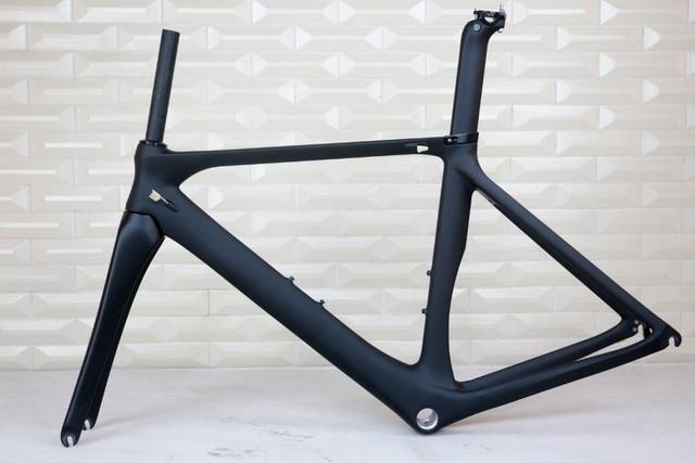 最新バージョンoem製品道路自転車フレームセットカーボンバイクフレームフォーク黒マット仕上げbsa FM268カーボンフレーム