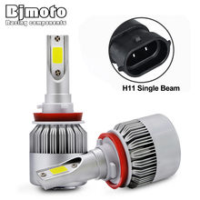 BJMOTO C9 H7 H11 H4 High/Low Beam Car Headlight 72W COB Auto LED light Fog Bulb 7200LM Automobiles Head Lamp(China)