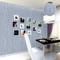 Vintage Blue Vertical Stripe Wallpaper Rustic Simple PVC Vinyl Textured Stripe Wall Paper For Living Room