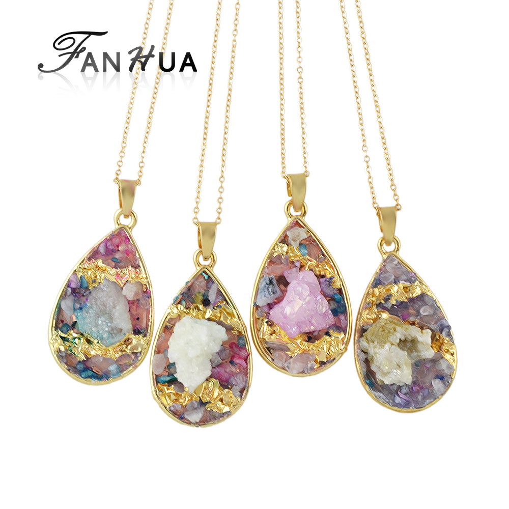 Fanhua Random Color Ethnic Style Gold Color Chain Multi