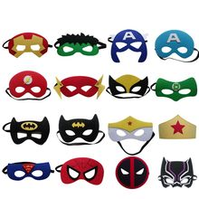 30 stücke Kinder Endgame superheld iron man spiderman thor Cosplay Maske Superman Weihnachten kinder Party Maskerade requisiten(China)