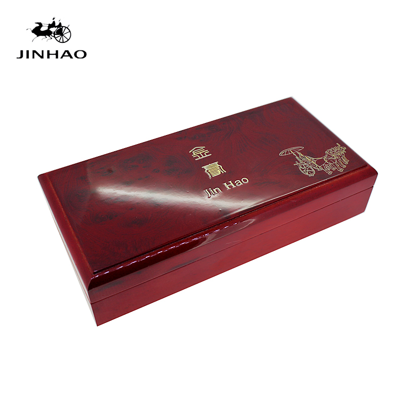 High-end Red Wood Pen Case Luxury JINHAO Gift Box for Ballpoint/Rollerball/Fountain Pen luxury wedding gift pen with brand retail box case gift handbag velvetpouch crystal pen
