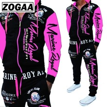 ZOGAA Men Track Suit Hooded Jacket Sweatsuit Mens Sports Suits brand New Sportwear Jogger Set Printed Tracksuit Clothes