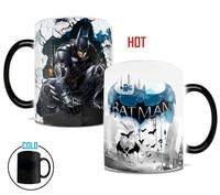 באטמן ספלי קפה ספלי קפה תה כוסות בירה ספל חום שינוי צבע חום מים לחשוף קסם קסום הפיכת בת אדם