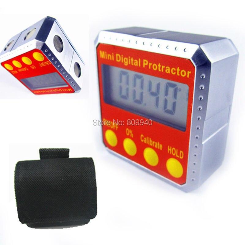 Mini Digital Protractor inclinometer Bevel Box level Digital Angle ...