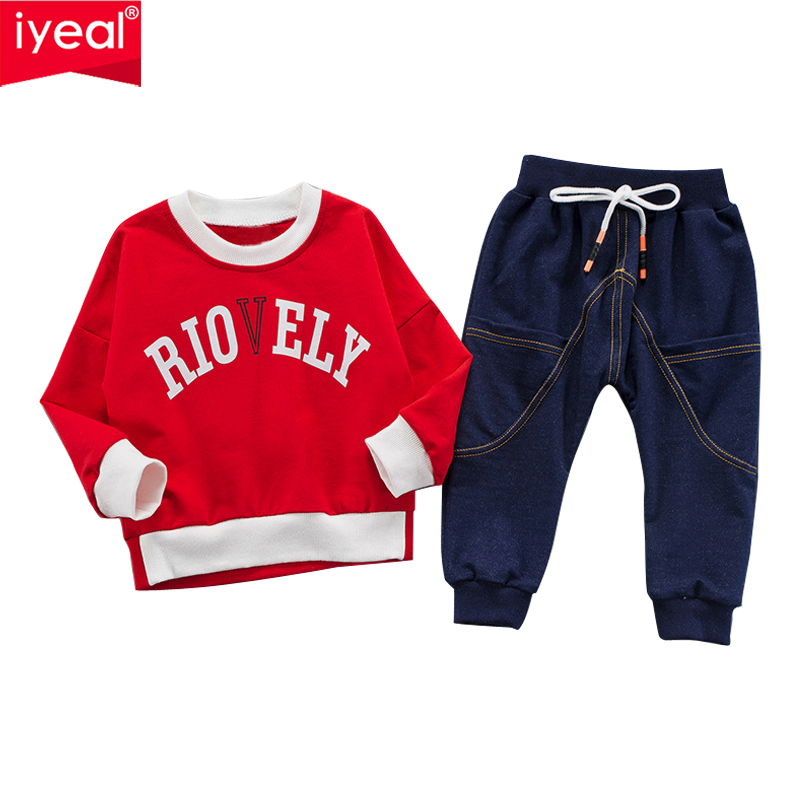 IYEAL Baby Boy Clothing Set Kids Clothes Sets Long Sleeve T-Shirt + Pants Autumn Spring Children's Sports TrackSuit Boys Clothes kids clothes sets wholesale spring and autumn boys sports leisure suit t shirt hoodie long pants free shipping in stock
