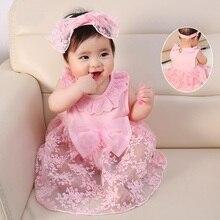 Robe en coton pour fille, nouvelle né, motif Floral, pour fille de 3 à 6 mois, tenue de princesse pour bébé de 1 an, rose