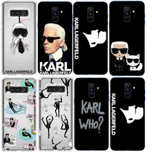 Karl Lagerfeld Soft Silicone TPU Phone Cases For Samsung Galaxy S10  S10LITE S10Plus S6 S7 S8PIUS S9 2018A6 A8PIUS Cover