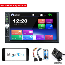 2DIN Capacitive Touch Screen 7 inch Car Stereo Phone Link FM only Bluetooth MP3 MP4 Player with USB SD HD Decoding no dvd cd vcd
