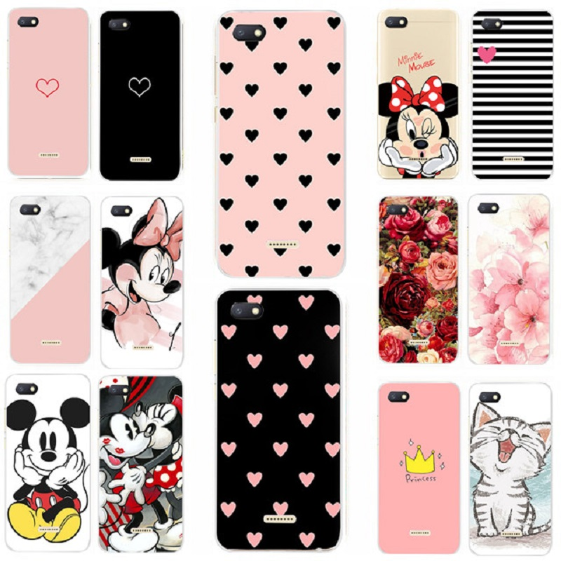 Silicone <font><b>Cover</b></font> For <font><b>Xiaomi</b></font> <font><b>Redmi</b></font> <font><b>6A</b></font> <font><b>Case</b></font> 5.45' Cute Animal <font><b>Case</b></font> for <font><b>Xiomi</b></font> <font><b>Redmi</b></font> 4x <font><b>6</b></font> <font><b>Cover</b></font> <font><b>Redmi</b></font> 4 x Redmi4X Redmi6 Phone <font><b>Cases</b></font> image