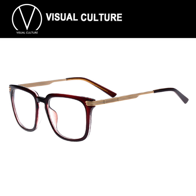 ca20bdf36f 2015 gold glasses frames for men with Clear Lens Fashion women large Frame  Glasses Vintage Retro Nerd Geek opitical glasses C082