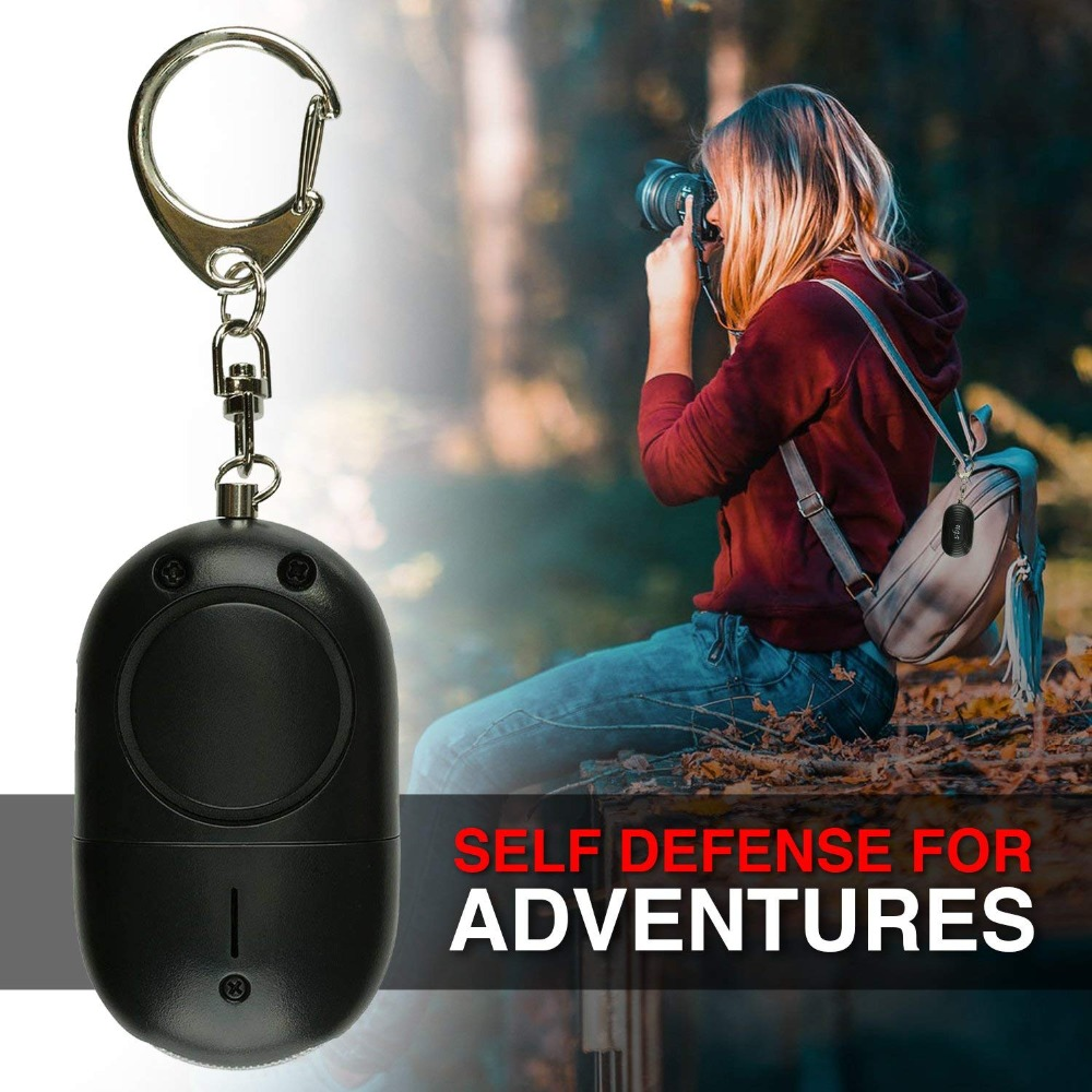 10 Pcs Mini LED Light Personal Alarm Keychian For Women Girls Kids Elderly Personal Security Keychain Alarm