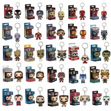 Funko POP brelok Marvel Venom Thanos Avengers postacie Wonder Woman Aquaman Batman figurka-Model kolekcjonerski zabawka(China)