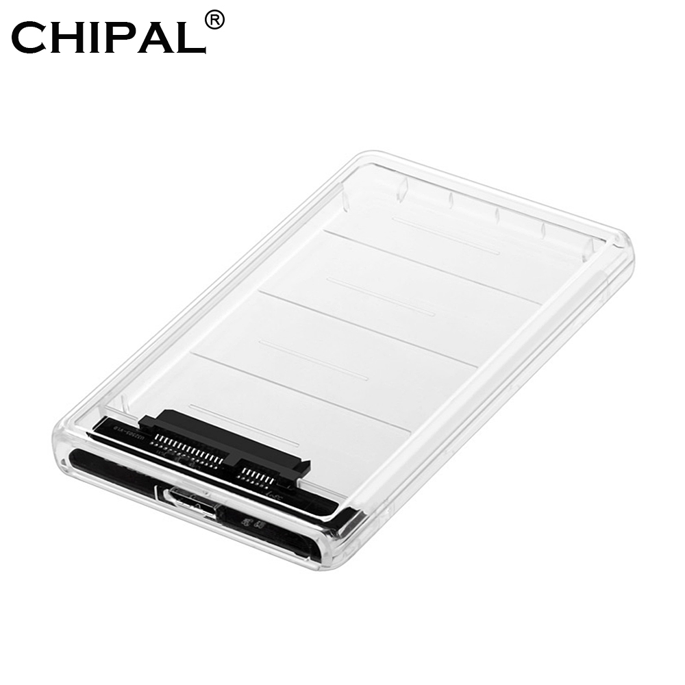 Прозрачный чехол CHIPAL для SSD-накопителя с USB 9,5, адаптер для DVD, HDD, Sata, Caddy Optibay, 2,5 мм, дюйма, коробка, корпус для жесткого диска, поддержка Φ UASP