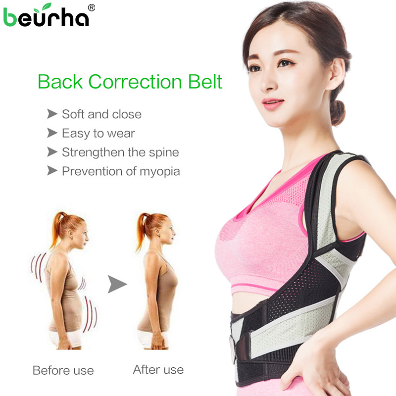 Dropshipping Men Women Corset Adjustable Brace Shoulder Back Support Belt Lumbar Spine Support Posture Straight Corrector Belt