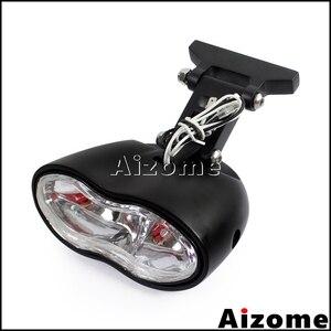 Image 3 - مصباح أمامي مخصص للدراجات النارية H3 55 واط كشافات أمامية بيضاوية بمصباح أمامي مزدوج لدراجة Harley Cafe Racer