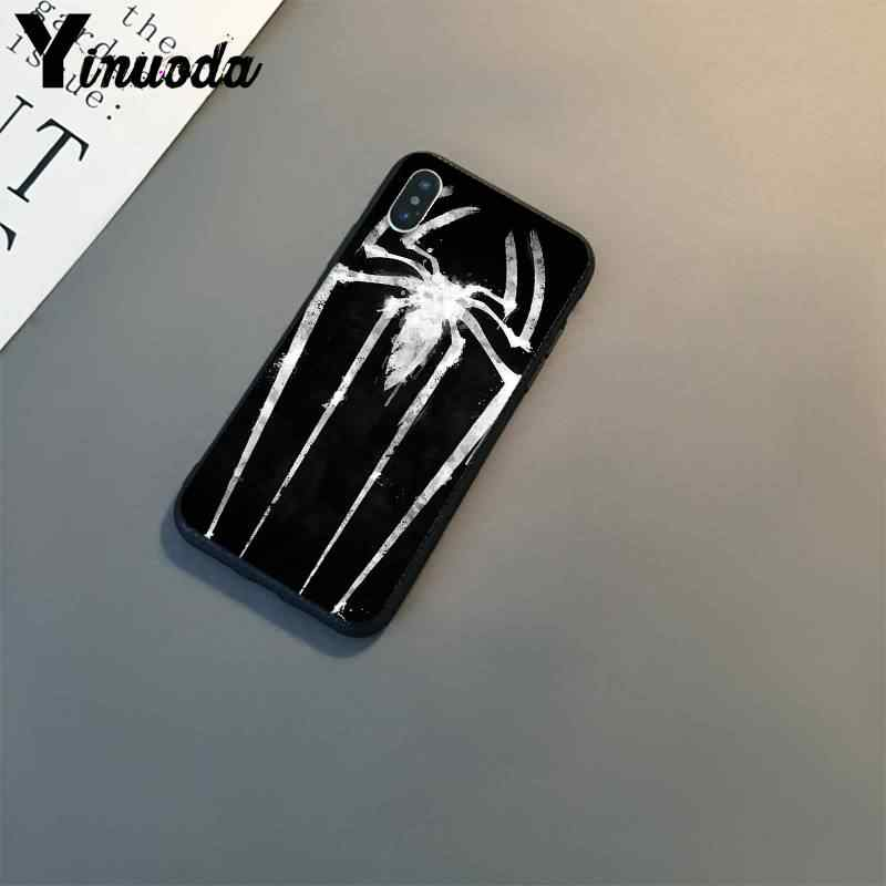 Yinuoda spiderman marvel superheroes padrão de luxo phonecase para iphone 8 7 6 s 6 plus x xs max 5 5S se xr 10 11 11pro 11promax