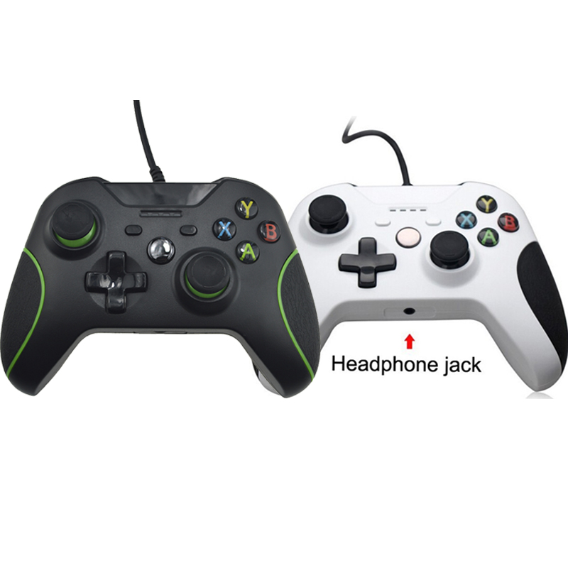 USB wired controller para xbox one jogo de vídeo joystick mando para microsoft xbox one fino gamepad controle joypad para windows pc