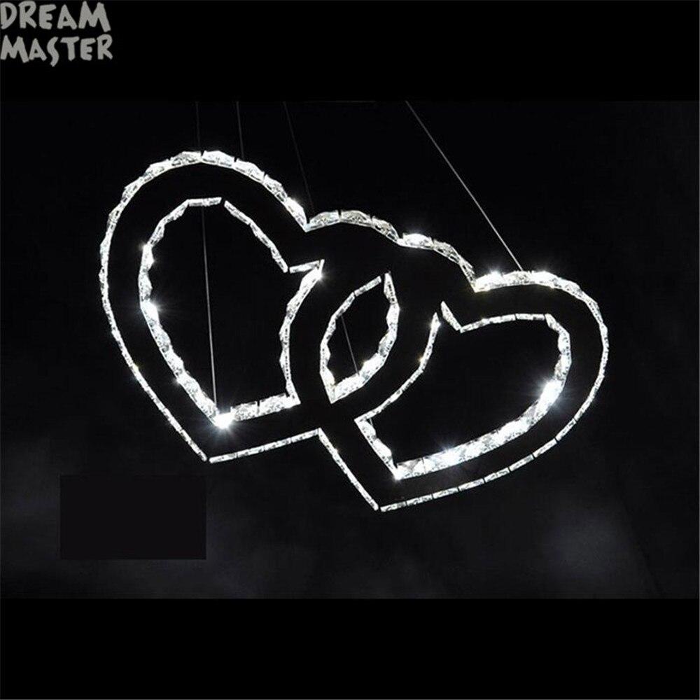 Novi dizajn LED privjesci svjetiljke Moderno kristalno srce u - Unutarnja rasvjeta - Foto 3