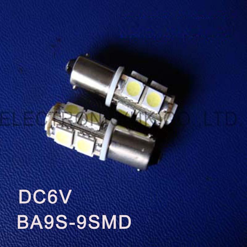 High quality DC6.3V 6V BA9S led light bulb Indicating lamp caution light Warning lights Warning Signal free shipping 20pcs/lot