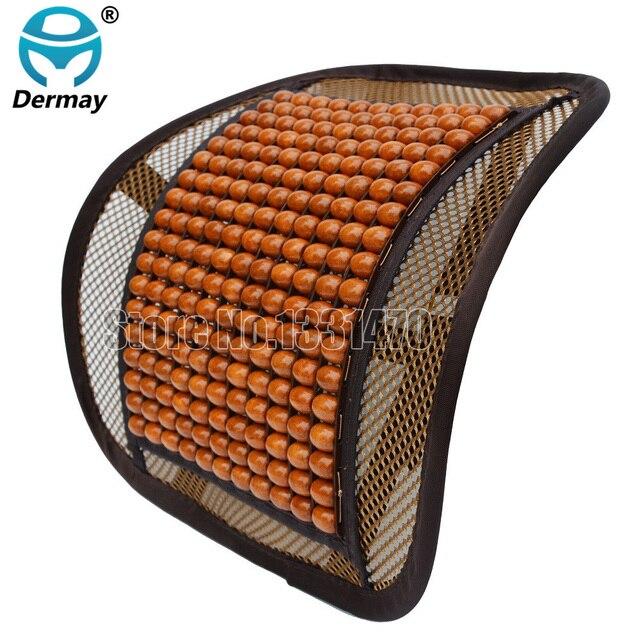 Dermay asiento de madera del grano soporte lumbar Cojines para la ...