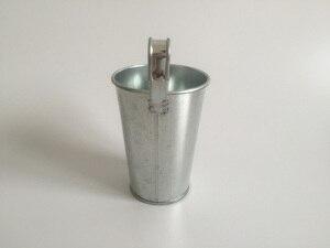 Image 2 - 鉄ぶら下げバケット D8XH15CM ブリキの箱アイアンポットバルコニー植木鉢金属銀色プランター