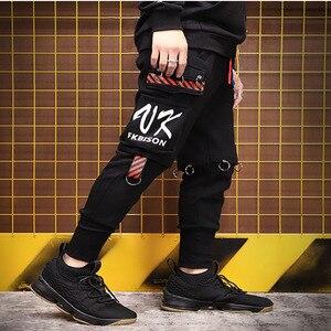 Image 3 - Mens Women Plus Velvet Couple Pants Cargo pants Pockets Big Size Joggers Sportswear Male Slacks Trousers Ninja Sweatpants S 3XL
