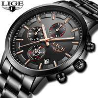 2019 New LIGE Mens Watches Top Brand Luxury Male Clock Fashion Waterproof Quartz Watch For Men's Sport's Watch Relogio Masculino