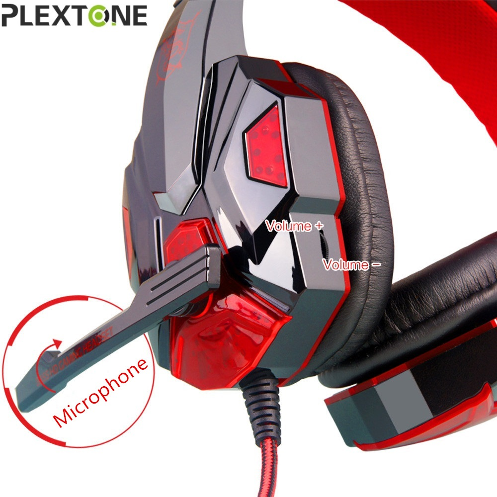 PLEXTONE New Arrival Gaming Headset Wired Earphone Gamer Headphone With Microphone LED Noise Canceling Headphones for Computer