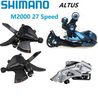 NEW Shimano A LTUS M2000 Derailleur Set 3*9 / 27 Speed Shift Lever 3 S Front / 9 S Rear Derailleurs Mountain Bike Shifter Parts