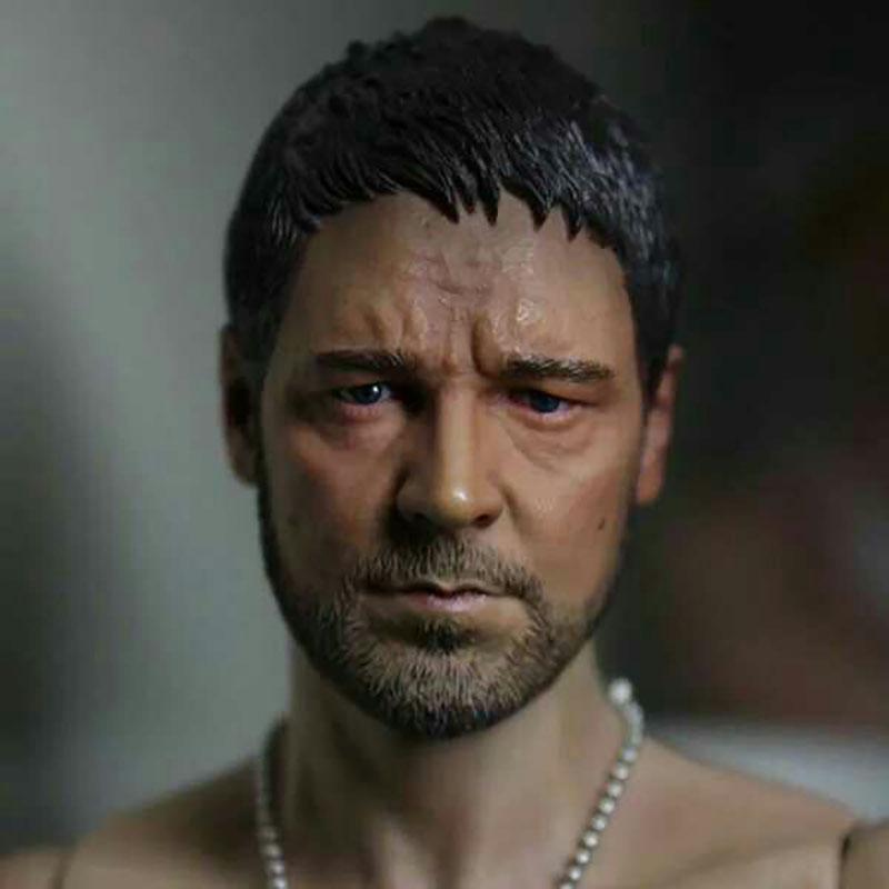 1/6 Scale Russell Crowe Gladiator Head Carving Sculpt Male Version Model Short Hair Headplay For 12
