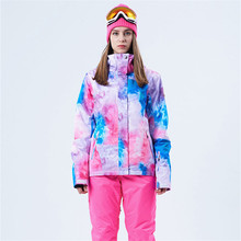 все цены на Winter Women Ski Jacket  Waterproof Windproof Outdoor Mountain  Coat Thicken Breathable Female Warm  Skiing Jacket Hot Sales онлайн