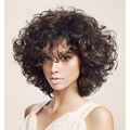 Synthetic  Hair Wig Female  Hair  Short Curly Hair Wig   Cheap Wigs For  Black Women Cheap Ombre Wigs