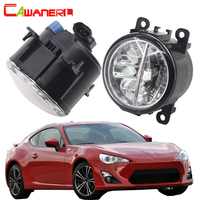 Cawanerl 2 Pieces Car Styling LED Bulb Fog Light 4000LM 6000K White DRL Daytime Running Lamp
