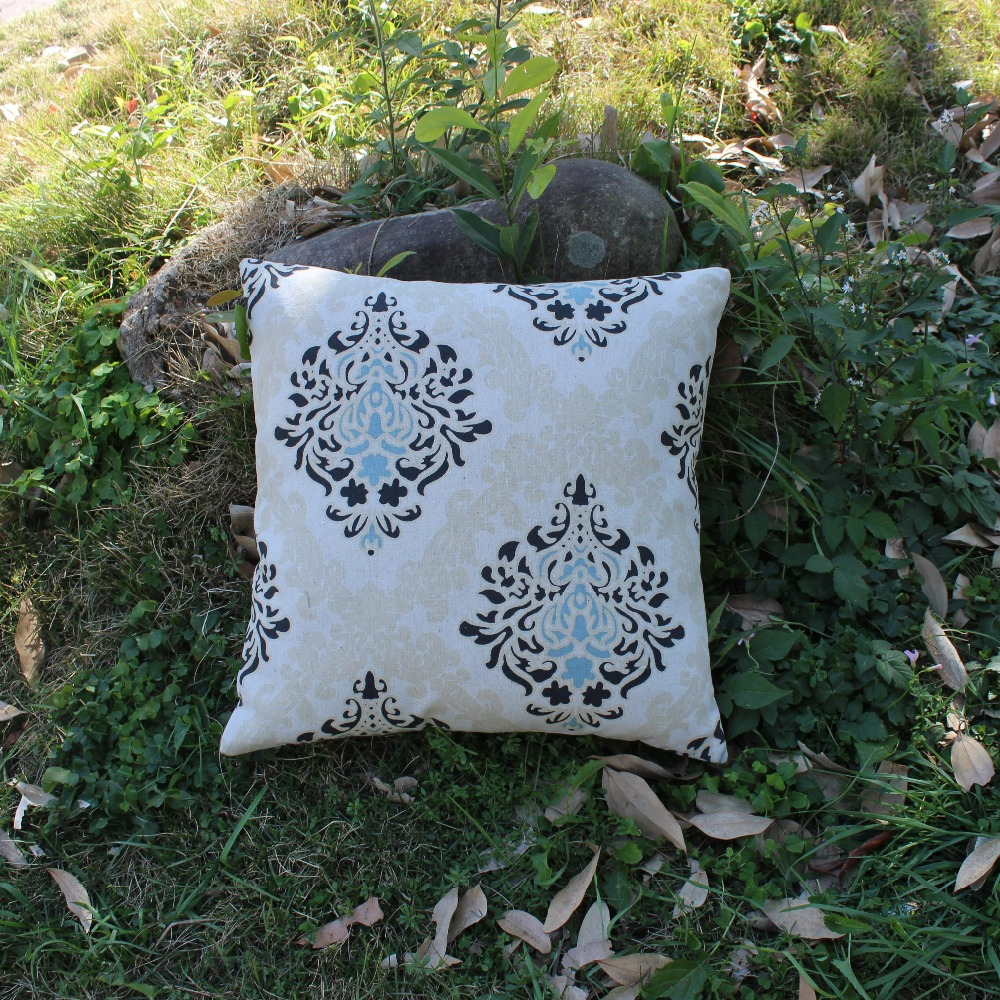Gracious Home Decorative Pillows : VEZO HOME vintage floral linen sofa cushions cover home decorative throw pillows cover 18x18 ...