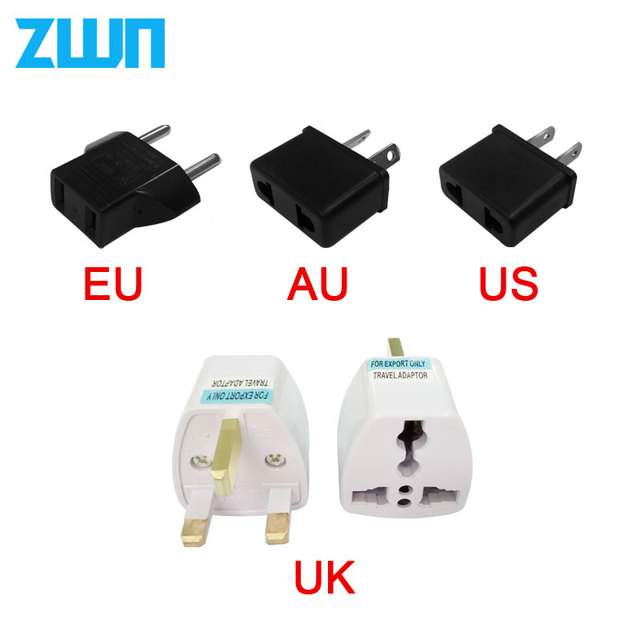 1 PC uniwersalny USA UK AU do wtyczki ue stany zjednoczone, wszystkie szpitale w Euro europa podróż ściana ładowarka AC Adapter gniazda konwerter 2 rundy pinowe gniazdo