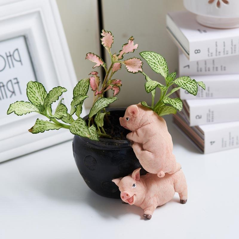 Resin Cute Pig Decoration Creative Animal Home Decoration Accessories Easter Pig Figurine Birthday Wedding Gifts R504Resin Cute Pig Decoration Creative Animal Home Decoration Accessories Easter Pig Figurine Birthday Wedding Gifts R504