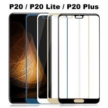 Funda completa de vidrio templado para Huawei P20 Lite Plus, Protector de pantalla P20Lite P 20, película protectora