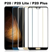 전체 커버 강화 유리 P20 라이트 유리 화웨이 P20 라이트 플러스 스크린 프로텍터 P20Lite P 20 보호 필름 보호 Glas