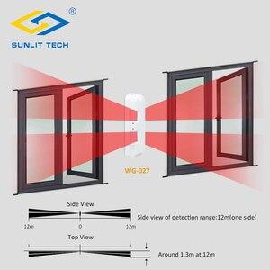 Image 4 - Sensor de movimiento Pir de cortina con cable, Detector de movimiento Pir de cortina antirrobo IP55, resistente al agua, Sensor pasivo antimascotas, sistema de alarma antirrobo para el hogar