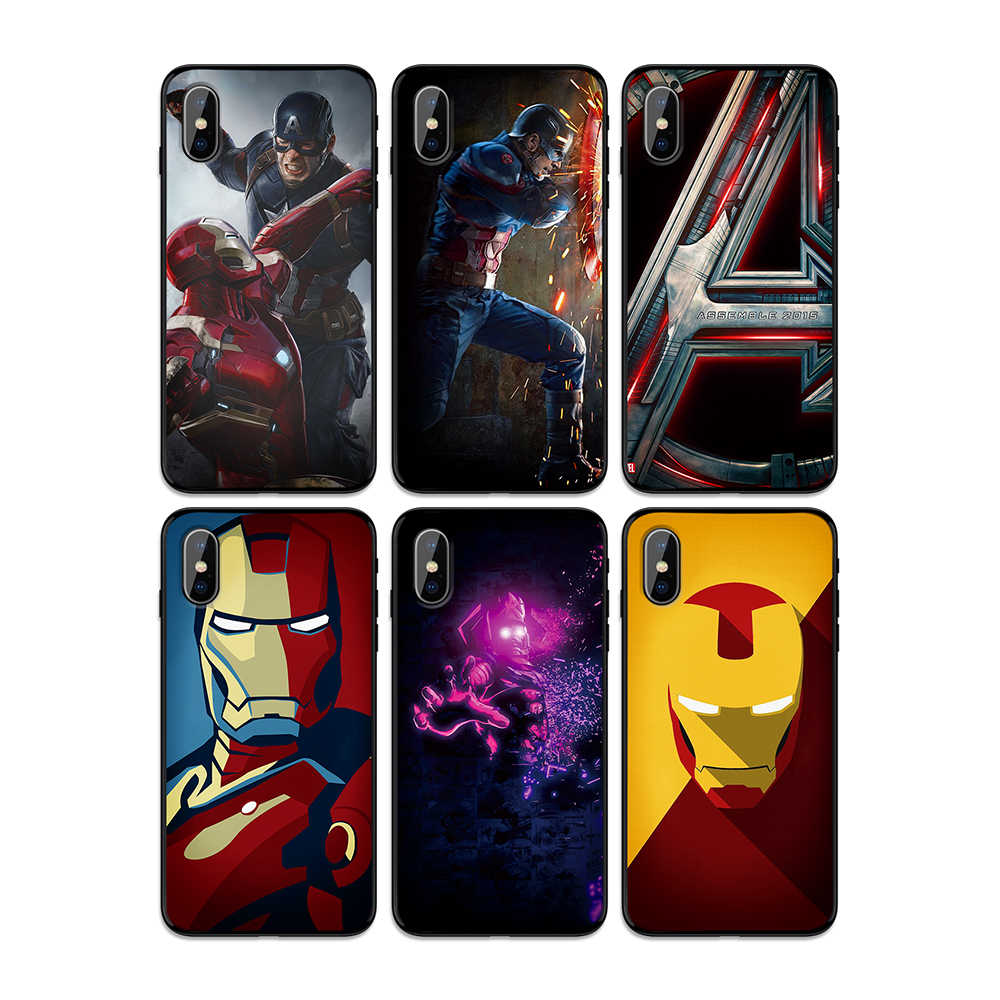 Marvel Avengers Endgame Thanos Iron Man Soft TPU Case Cover for Apple iPhone 6 6S 7 8 Plus 5 5S SE X XS MAX XR Silicone Cases