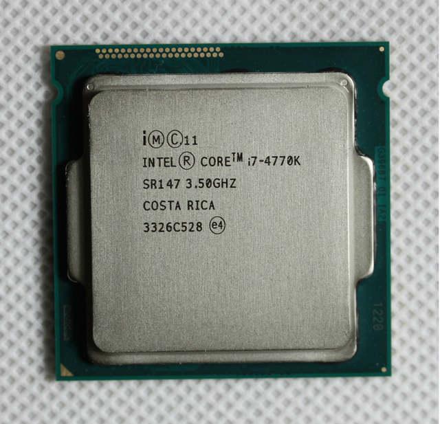 Core i7 4770K SR147 3.5GHz Quad Core CPU Intel I7 4770K Desktop ...