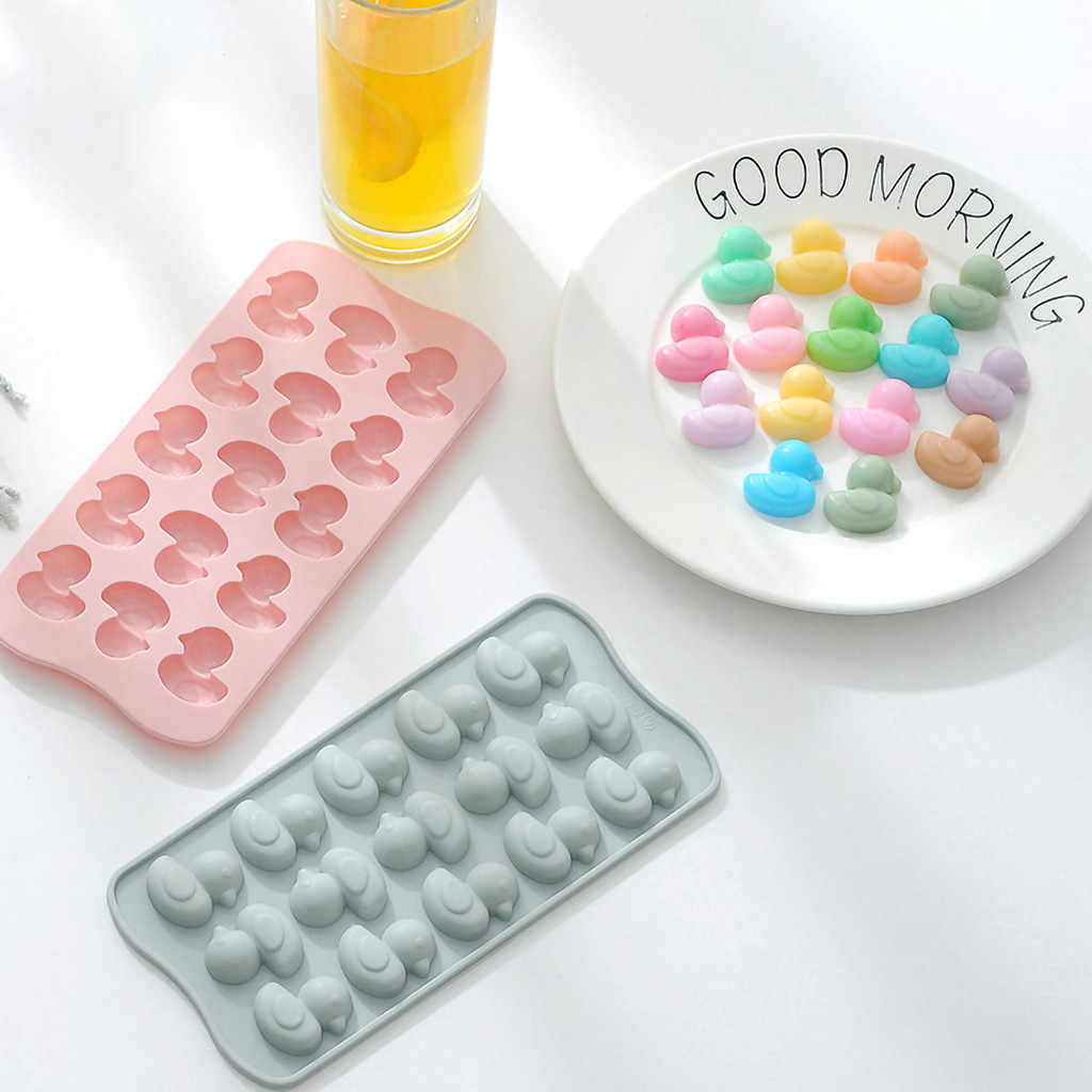 Ice Cream Tools Silicone Shape Cake Cookie Chocolate Mould Ice Tray Mold Baking Tray 3D Ice Cube Tray